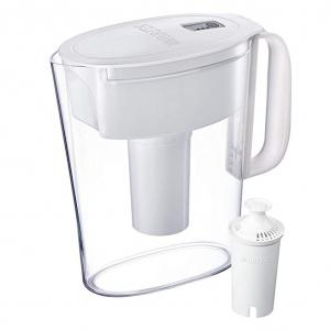 Brita Metro Pitcher with 1 Filter, BPA Free, 5 Cup, White @Amazon