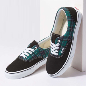Vans Era Trainers Evergreen True White Tartan Sale @Office Shoes