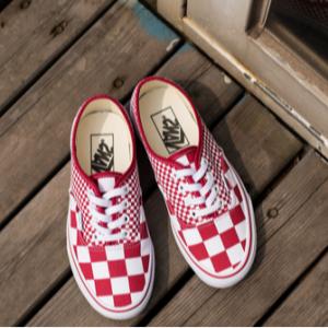 Steep&Cheap官網Vans 萬斯 Authentic 紅棋格帆布鞋特賣