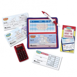 Learning Resources Pretend and Play Checkbook With Calculator @ Amazon