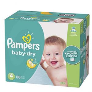 Pampers Baby Dry 婴儿纸尿裤特惠 @ Amazon