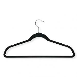 Honey-Can-Do HNG-01884 Thin Non-Slip Velvet Hangers, Black, 50-Pack  @Amazon
