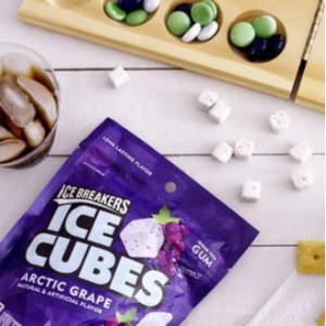 ICE BREAKERS Ice Cubes Sugar Free Gum, Arctic Grape, 100 Count @ Amazon.com
