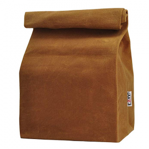 Waxed Canvas Lunch Bags Brown Paper Bag Styled @Amazon