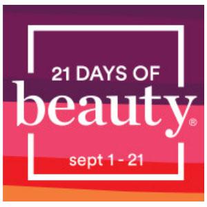 Ulta Beauty21天美妆盛典 9.21日收Tarte Shape Tape遮瑕,贝玲妃眉笔等