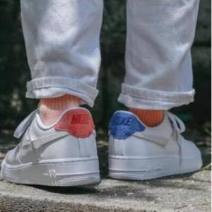 Office Shoes官網Nike 耐克 Air Force 1 07 空軍1號 橙藍配色鴛鴦鞋特賣