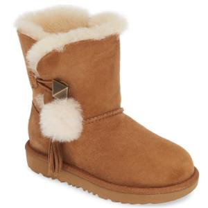 Nordstrom官網 UGG毛球大童款中筒雪地靴熱賣