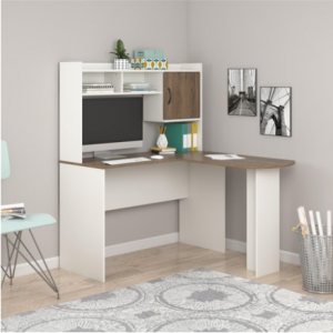 Mainstays L-Shaped Desk with Hutch, Multiple Colors @Walmart