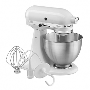 KitchenAid (K45SSWH) 4.5誇脫斜頭立式攪拌機 白色 @Amazon