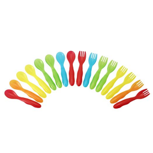 The First Years Take & Toss Flatware for Kids, 16 pieces @ Amazon