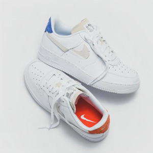 Eastbay官网Nike Air Force 1 Inside Out 红蓝鸳鸯 断勾运动鞋