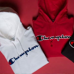 Men's Champion Reverse Weave Chenille Logo Hoodie Sale @FinishLine