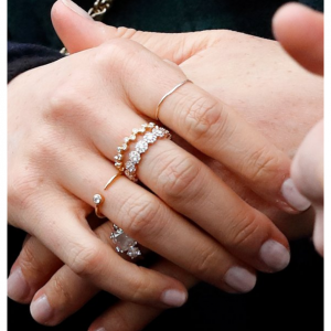 Missoma 18ct Gold Vermeil 镀金戒指,梅根王妃同款 @Missoma官网