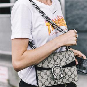 Gucci Beige Mini Dionysus Shoulder Bag @Ssense