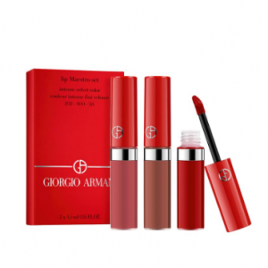 Nordstrom8折收GIORGIO ARMANI阿瑪尼2019聖誕限定紅管絲絨唇釉套裝 含202 400等