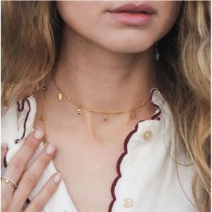 朱莉婭·羅伯茨同款,Missoma 金葉子短項鏈 18ct Gold Vermeil 鍍金