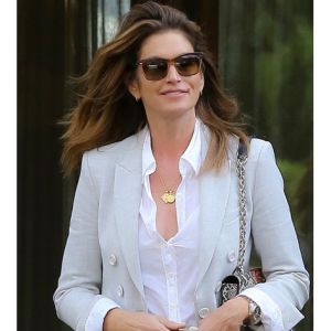 Missoma Lucy Williams Caesar Coin Necklace, Cindy Crawford's Style
