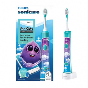Philips Sonicare for Kids Rechargeable Electric Toothbrush, Blue HX6321/03 @ Amazon