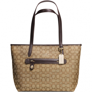 COACH Taylor Tote in Signature Jacquard @ Macy's