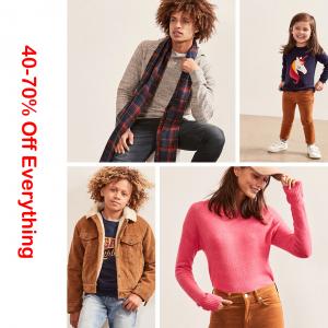 全场商品3-6折 @Gap Factory,男女装、童装都有