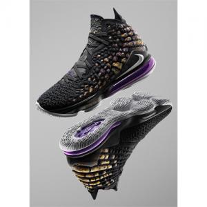 詹姆斯17代 LeBron 17 篮球鞋,黑紫色 @Nike.com