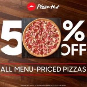 Pizza Hut Big Savings on Menu-Priced Pizza