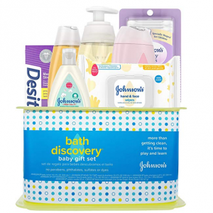 Johnson's Bath Discovery Baby Gift Set, 7 Items @ Amazon