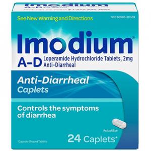 Imodium A-D Diarrhea Relief Caplets 24 ct @ Amazon.com