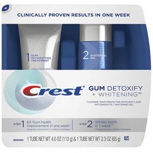 Crest Gum Detoxify Plus Whitening 2 Step Toothpaste @ Amazon.com
