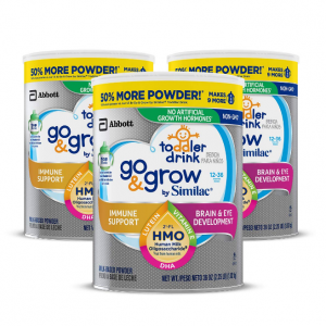 Go & Grow by Similac Non-GMO 非轉基因幼兒配方奶粉(1-3歲)36 oz * 3罐裝 @ Amazon