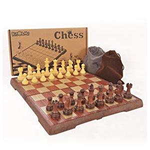 KIDAMI 折疊式磁力國際象棋 (12.4 x 10.6 x 0.8) @ Amazon