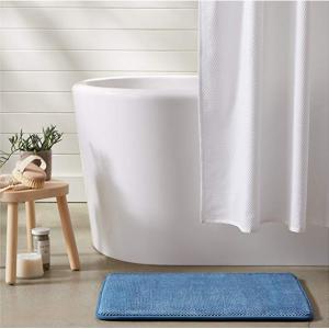 AmazonBasics Textured Memory Foam Bath Mat - Pack of 2, Small, Blue @Amazon