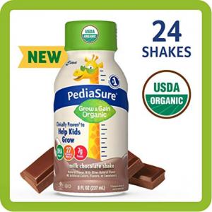 PediaSure Organic Kid's Nutrition Shake, 8 fl oz, 24 Count @ Amazon
