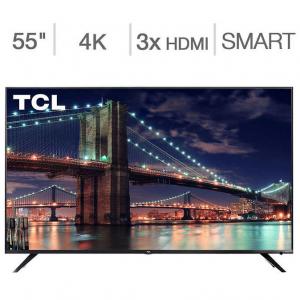 "eBay - TCL 55"" 大屏4K超高清智能電視4.4折 + 額外8.5折"