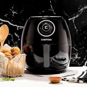 Chefman 3.6 Quart Air Fryer Oven, BPA-Free, Black @Amazon