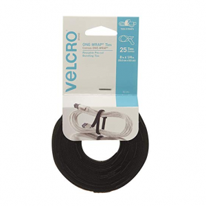 "VELCRO Brand - ONE-WRAP: For Cables, Wires & Cords - 8"" x 1/4"" Ties, 25 Ct. - Black @Amazon"