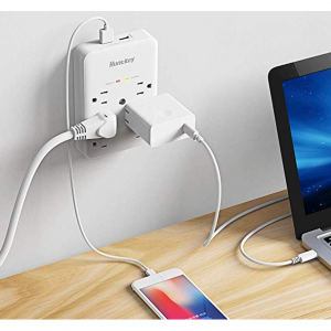 Huntkey 6 AC Outlets Surge Protector with 2 USB Charging Ports 3.4 Amp, SMD607A @Amazon
