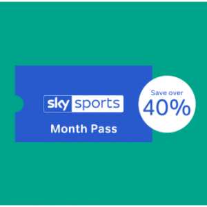 Over 40% OFF Sky Sports Month Pass @NOW TV