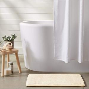 AmazonBasics 记忆海绵吸水浴室防滑垫 - 小号,米色 @Amazon