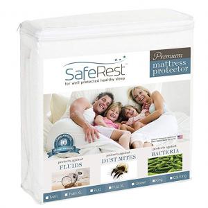 SafeRest 抗菌防潮床罩熱賣 多尺寸可選 @Amazon