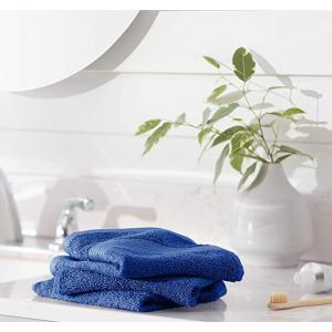 AmazonBasics 100%纯棉防褪色快干毛巾 12条,海军蓝 @Amazon