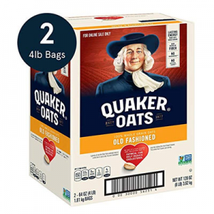 Quaker Old Fashioned Rolled Oats Two 64oz Bags in Box @ Amazon.com