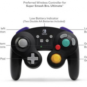 Nintendo Switch GameCube Style Wireless Controller Black / Pikachu for £29.99 @ Argos