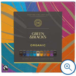 Green & Blacks Organic Tasting Collection Boxed Chocolates 395G for £5.50 @Tesco