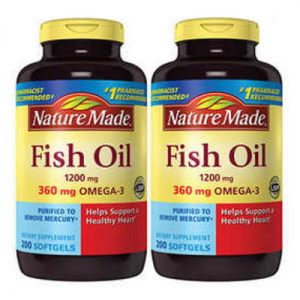 $4 off Nature Made Fish Oil 1200 mg., 400 Softgels @ Costco