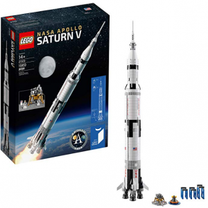 LEGO Ideas NASA Apollo Saturn V 21309 Outer Space Model Rocket (1900 pieces)