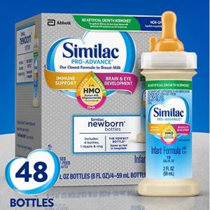 Similac Pro-Advance 嬰兒液體奶, 2 盎司 (48 瓶) @ Amazon
