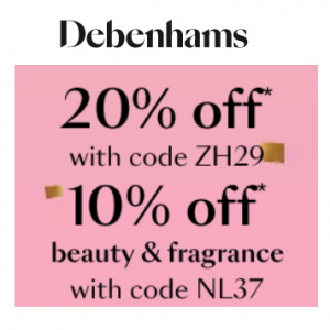 Extra 20% off Flash Sale including Kids @Debenhams