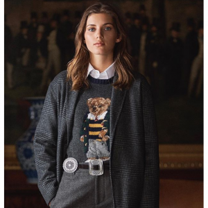 Polo Ralph Lauren Bear Intarsia Wool & Cashmere Blend Sweater @Saks Fifth Avenue