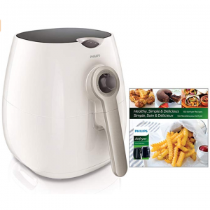 Philips 2.75夸脱空气炸锅 白色+食谱 @Amazon